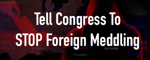 Help Us Stop Foreign Donations from Affecting Our Elections!