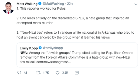 Matt Wolking Tweet